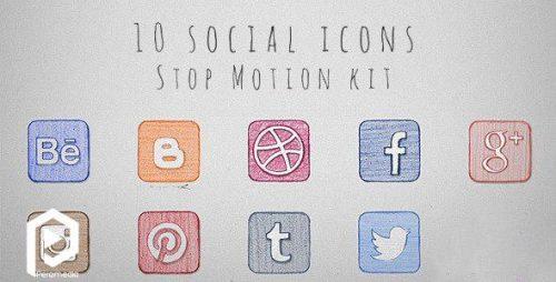 آیکون استاپموشن شبکههای اجتماعی