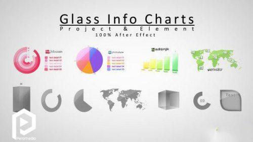 اینفوگرافیک جهت ارائه آماری با تم شیشهای