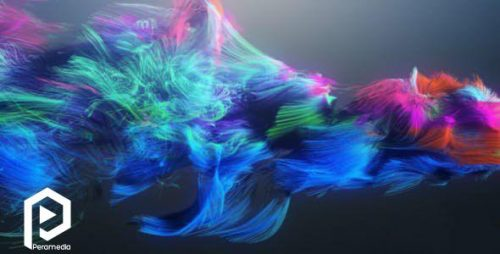 لوگو موشن ذرات چشمنواز و رنگارنگ