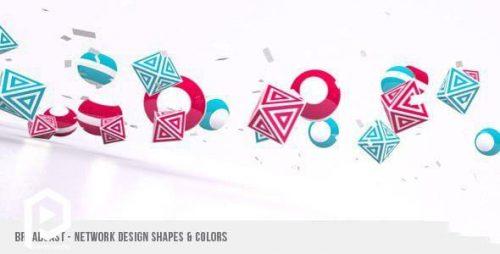 ویدیو آغازین طراحی لوگو در میان اشکال رنگی