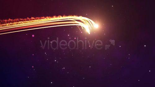 ویدیو آغازین لوگو در میان خطوط نور
