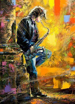نقاشی نوازنده ساکسوفون