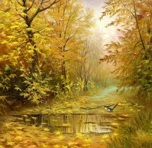 نقاشی پاییز زیبا