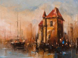 نقاشی خانهای در کنار رود