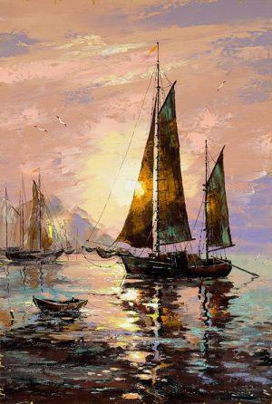 نقاشی قایق ماهیگیری