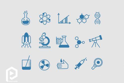 آیکون های علمی doodle