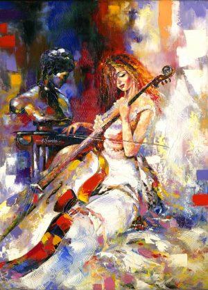 نقاشی تکنوازی میا