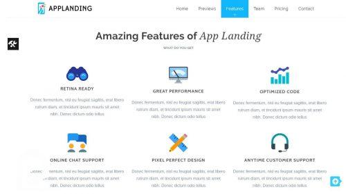 تم وردپرس لندینگپیج App Landing