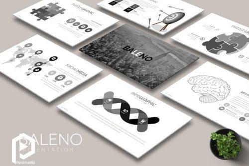 قالب پاورپوینت Baleno برای بازرگانی دیجیتال و معرفی محصول