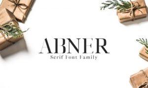 فونت انگلیسی دستنویس Abner Serif