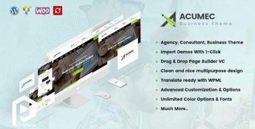 تم وردپرس چندمنظوره کسب و کار Acumec