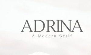 فونت انگلیسی دستنویس  Adrina Modern Serif