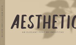فونت انگلیسی Aesthetic