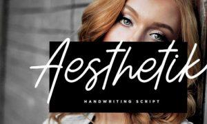 فونت انگلیسی دستنویس  Aesthetik