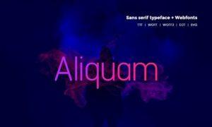 فونت و تایپفیس انگلیسی Aliquam Modern