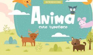 فونت و تایپفیس انگلیسی Anima Fun Children