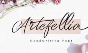 فونت انگلیسی دستنویس Artefellia