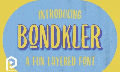 فونت انگلیسی Bondkler
