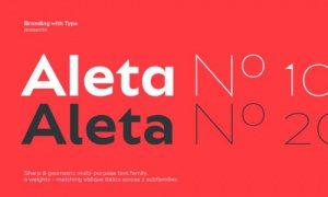 فونت انگلیسی Aleta