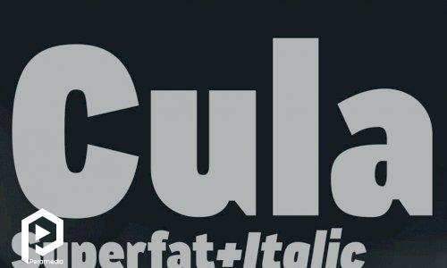 فونت انگلیسی Cula