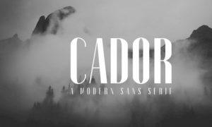 فونت انگلیسی Cador