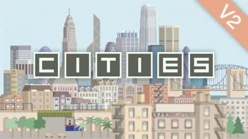 آگهی تبلیغاتی کارتونی شهر ها و برج ها