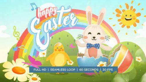 انیمیشن خرگوش عید پاک و مرغ