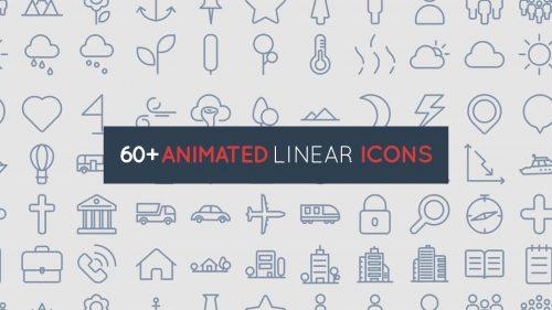 انیمیشن آیکون های خطی و کوچک
