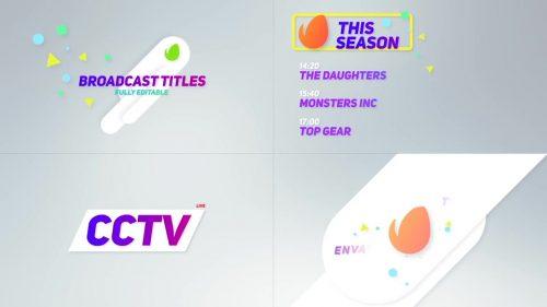 ویدیو آغازین تیتر های تبلیغاتی تلویزیونی