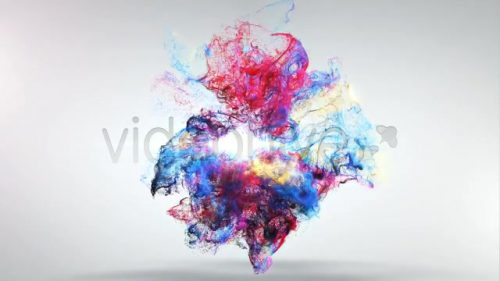 لوگو موشن انفجار رنگ ها